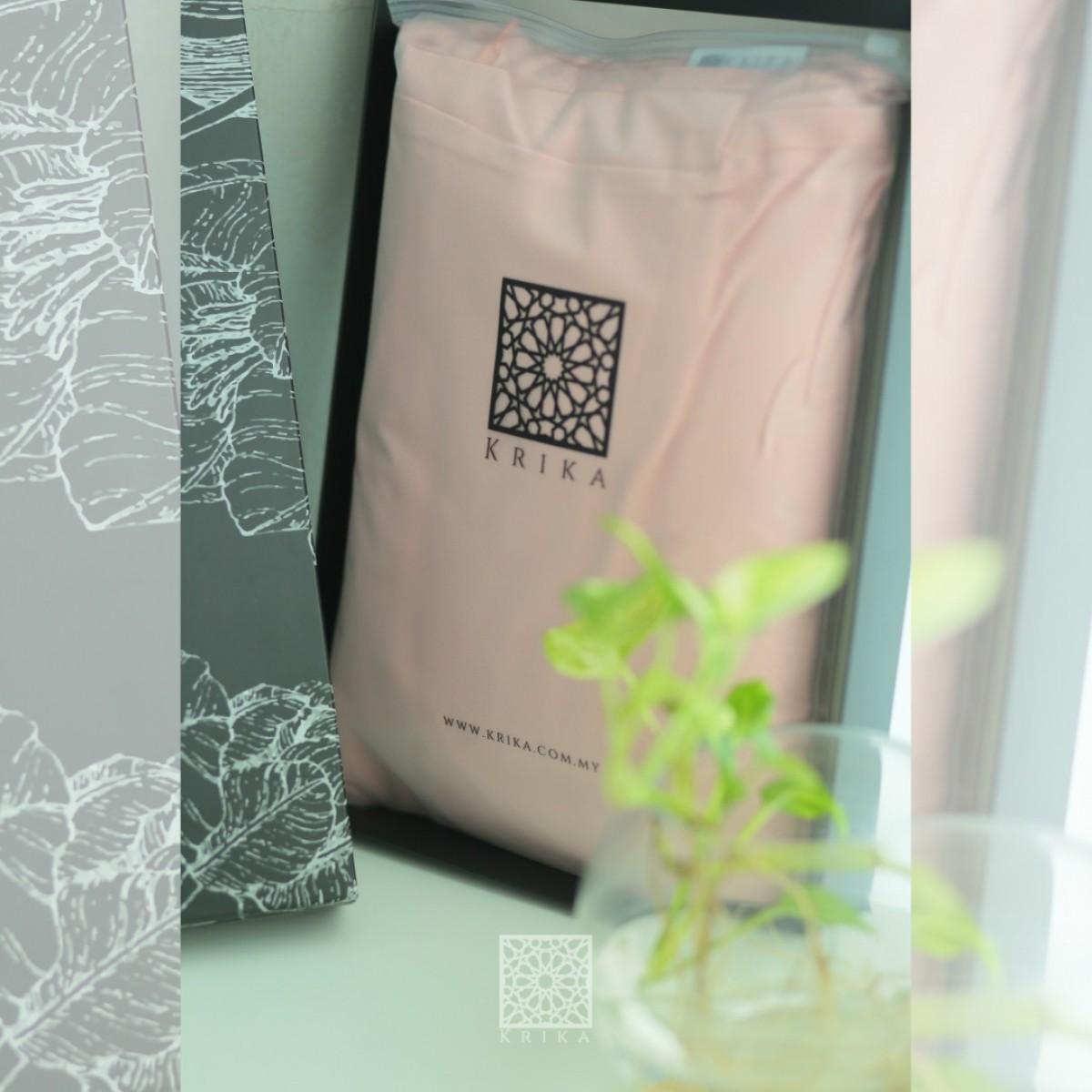 Telekung Krika Basic Pink Lemonade