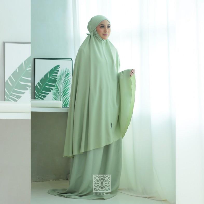 Telekung Krika Basic Mint Green