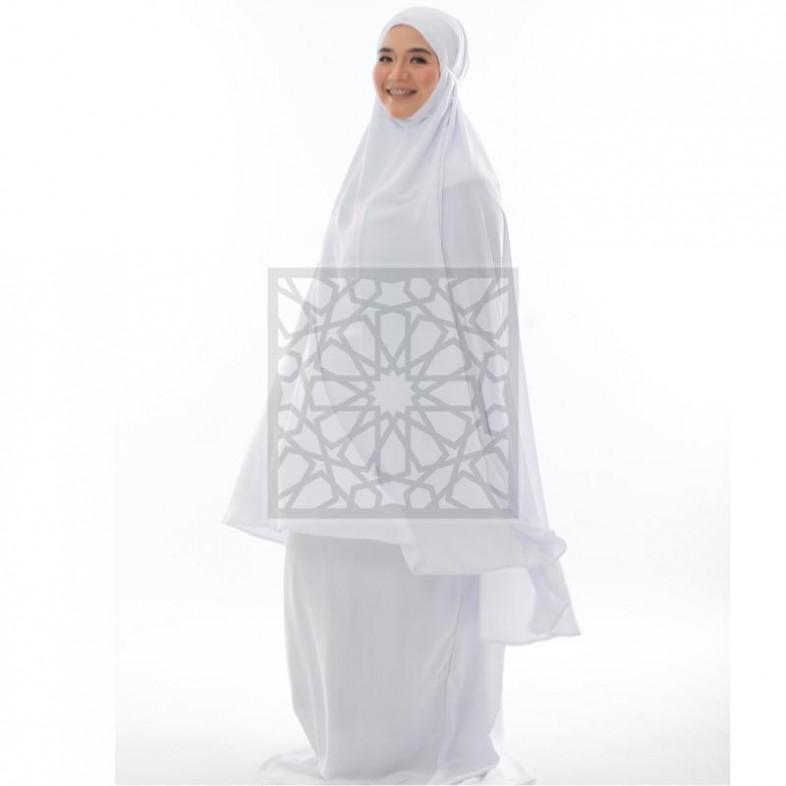 Telekung Krika Super Basic Series - White