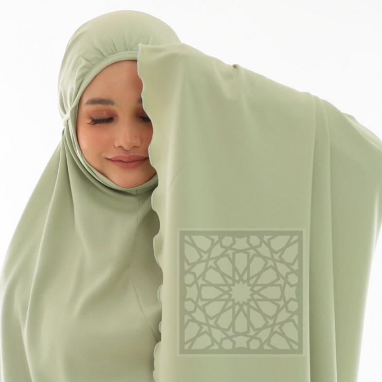 Krika Hasna Mint Green Classic Cut