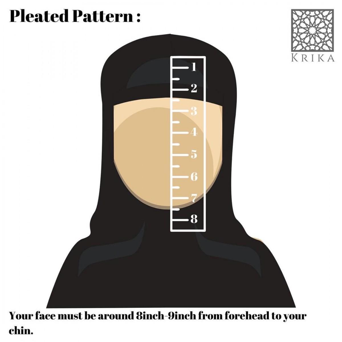Krika Hasna Solid Black Pleated Pattern