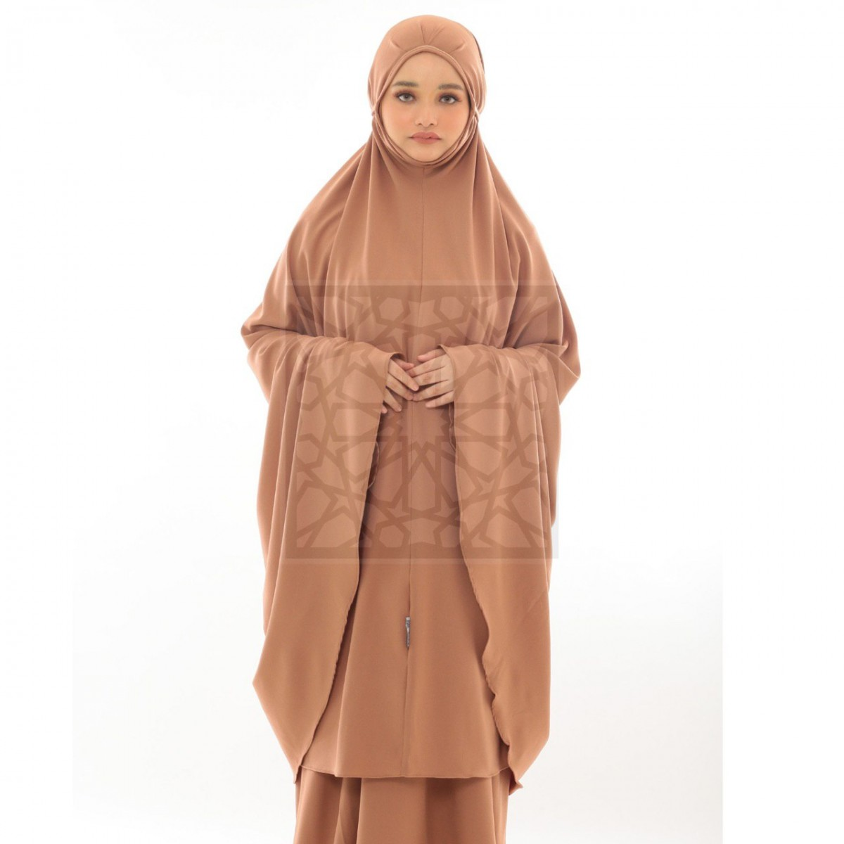 Krika Hasna Cocoa Pleated Pattern