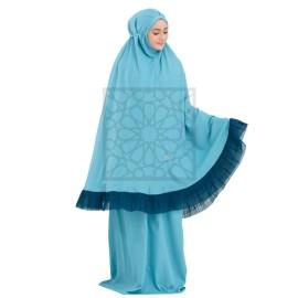 Krika Sarra Ruffles Ocean Blue Pleated